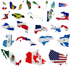 North America Political Map by North America Countries Flag Maps U2013 Stock Editorial Photo