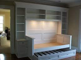 day bed with trundle spaces traditional with bookcases built ins