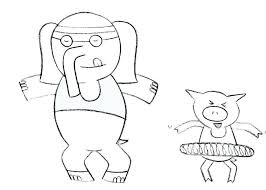 coloring pages elephant and piggie coloring page elephant and piggie coloring pages page elephant and