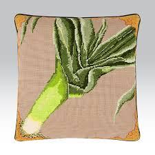 Kaffe Fassett Tapestry Cushion Kits Leek Ehrman Tapestry A Fun Vegetable Themed Needlepoint Kit
