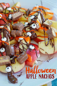Halloween Desserts Apple Nachos