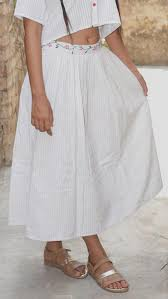 cotton skirt skirts shop white gathered cotton skirt online at bebaakstudio