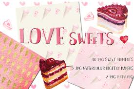 love watercolor bundle valentine u0027s day clipart by labfcreations