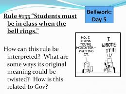 class bell rings images Bellwork day 5 rule 133 students must be in class when the bell jpg