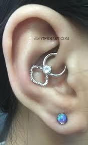 dazzle opal ear piercing in lilac daith earrings ear piercings