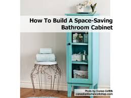 how to build a space saving bathroom cabinet