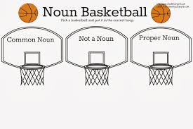 common noun proper noun basketball free printable