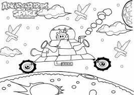 angry birds space pig king free coloring kids