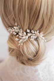 bridal hair comb blushing silver and blush bridal hair combs tania