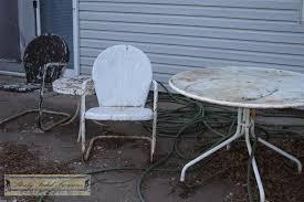 Vintage Outdoor Patio Furniture Decoration In Vintage Metal Patio Furniture Backyard Decorating