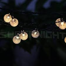 supernight 6m 30 led solar powered outdoor string