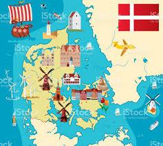 cartoon map of denmark stock vector art 472302531 istock