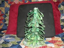my little creative world christmas tree from recycled material