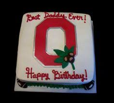 ohio state buckeye u0027s birthday cake kids cakes pinterest