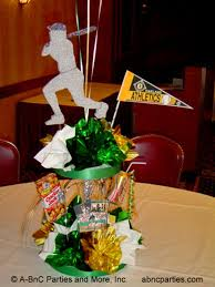 baseball centerpieces custom theme centerpiece decorations for and events