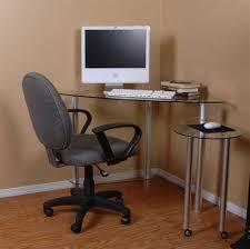 Small Corner Computer Desks For Home Glass Corner Computer Desk Deboto Home Design