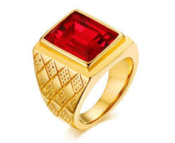 stone rings wholesale images Wholesale stainless mens rings red stone ring jpg