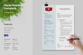 Resume Indesign Template Nurse Resume Template Resume Templates Creative Market