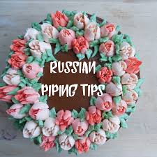 how to decorate a buttercream flower cake with russian piping tips