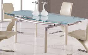 Glass Top Dining Room Table And Chairs by White Dining Room Idea With Table Glass Top And Modern Upholstered
