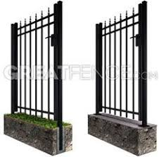 allure aluminum worthington 4 ft x 6 ft black aluminum 3 rail merchants metals black galvanized steel fence panel common 48 in