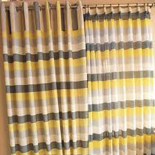 Striped Blackout Curtains Lemon And Grey Striped Curtains Gopelling Net