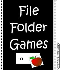 file folder games abc jesus loves me