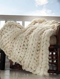 chunky throw blanket merino knit