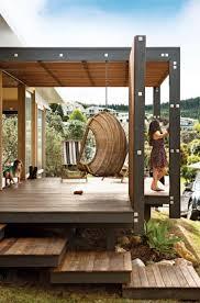 modele de terrasse couverte fauteuil suspendu jardin 34 idées d u0027aménagement extérieur