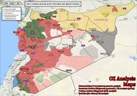map of syria nationwide map of syria august 2 2017