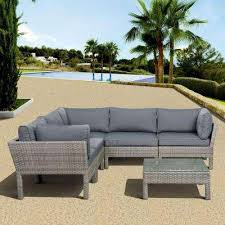 Wicker Patio Conversation Sets Lovely Gray Wicker Patio Furniture And Gray Patio Conversation