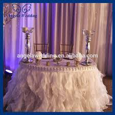 wedding linens for sale cl010a cheap hot sale polyester blush pink curly willow