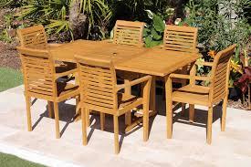sale 67in rectangular table u0026 6 atlantic armchairs teak set
