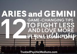 aries and gemini 12 tips to fight less and love more