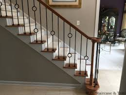 Wood Banisters And Railings After The Iron Baluster Upgrade From M C Staircase U0026 Trim Removal