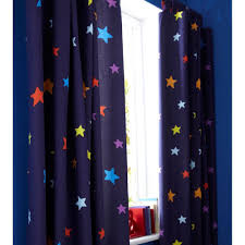 Lined Nursery Curtains by Outer Space Blue Tab Top Bedroom Curtains 66