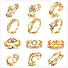 rings fashion gold images 2017 fashion gold color geometric ring high quality cubic zircon jpg