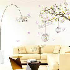 shop home decor online bird wallpaper home decor online shop vine tree birdcage vinyl