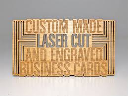 laser cut business cards laser cut business cards on wood metal and plastic