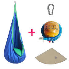 How To Hang A Hammock Chair Indoors Amazon Com Hanging Pod Chair Indoor Hammock Inflatable Pillow 2