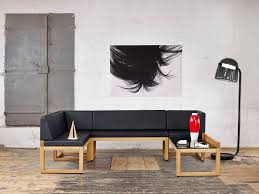 modular upholstered bench contemporary leather wooden