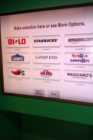 no fee gift cards turning change into gift cards with coinstar at bi lo