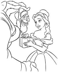 belle give beast present coloring download u0026 print