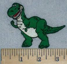 3448 rex dinosaur toy story embroidery patch