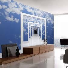 shinehome blue sky cloud space frame door gateway 3d wallpaper for