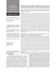 efectividad de la profilaxis analgésica con clonixinato de lisina