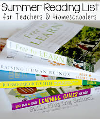 reading list for teachers and homeschoolers still playing