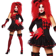harlequin halloween costumes new jesterina tricksterina harley quinn halloween cool clown fancy