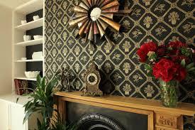 trellis wallpaper black gold metallic u2013 geraldine rae