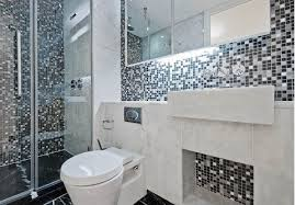 bathroom mosaic ideas bathroom design small feature and black gray white mosaic tile